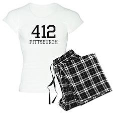 Pittsburgh Area Code 412 pajamas