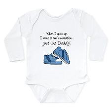Run Marathon Just Like Daddy Body Suit