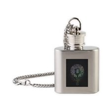 Yoga Tree Flask Necklace