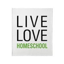 Live Love Homeschool Throw Blanket