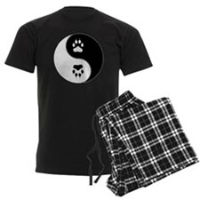 Yin Yang Paw Print Symbol Pajamas