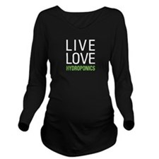 Live Love Hydroponic Long Sleeve Maternity T-Shirt
