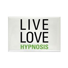 Live Love Hypnosis Rectangle Magnet