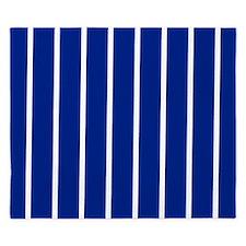 Cobalt Blue and white stripes King Duvet