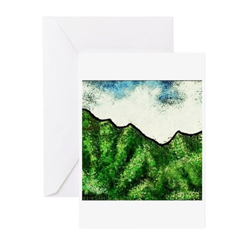 Hawaiian Cliffs Greeting Cards