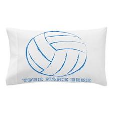 Custom Blue Volleyball Pillow Case