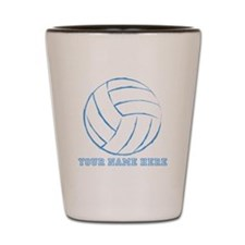 Custom Blue Volleyball Shot Glass