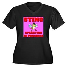 Sting Operation In Progress Women's Plus Size V-Ne