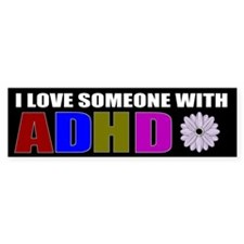 ADHD Bumper Car Sticker