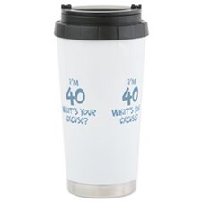 Cute Men 40th birthday Travel Mug