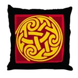 Celtic Spiral Throw Pillow