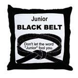 Junior Black Belt Throw Pillow