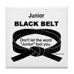 Junior Black Belt Tile Coaster