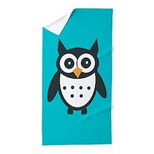 Cute Owl Beach Towel