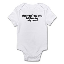 colby cheese (money) Infant Bodysuit