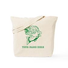 Custom Green Bass Tote Bag