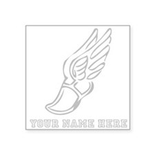 Custom Grey Running Shoe With Wings Sticker