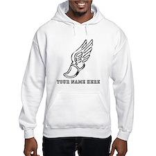 Custom Black Running Shoe With Wings Hoodie