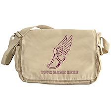 Custom Purple Running Shoe With Wings Messenger Ba