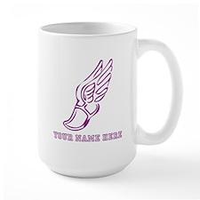 Custom Purple Running Shoe With Wings Mugs