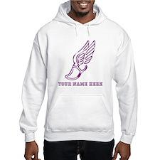 Custom Purple Running Shoe With Wings Hoodie