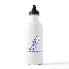Custom Blue Running Shoe With Wings Water Bottle