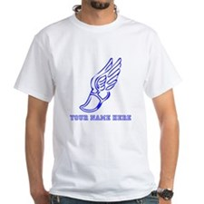 Custom Blue Running Shoe With Wings T-Shirt