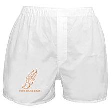 Custom Orange Running Shoe With Wings Boxer Shorts