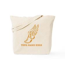 Custom Orange Running Shoe With Wings Tote Bag