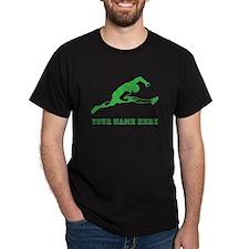 Custom Green Track Athlete T-Shirt