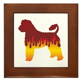 Portie Flames Framed Tile