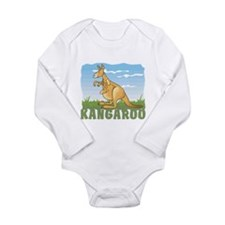 Kid Friendly Kangaroo Long Sleeve Infant Bodysuit