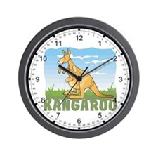 Kid Friendly Kangaroo Wall Clock
