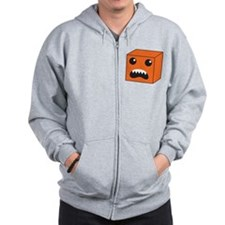 KAWAII Orange Box creature open mouthed Zip Hoodie