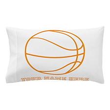 Custom Orange Basketball Pillow Case