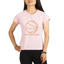 Custom Orange Basketball Performance Dry T-Shirt
