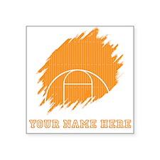 Custom Orange Basketball Court Sticker