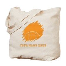 Custom Orange Basketball Court Tote Bag