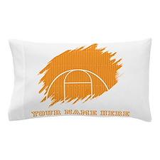 Custom Orange Basketball Court Pillow Case