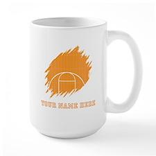 Custom Orange Basketball Court Mugs