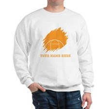 Custom Orange Basketball Court Sweatshirt