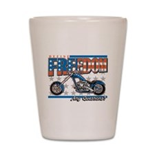 Define Freedom Motorcycle Shot Glass