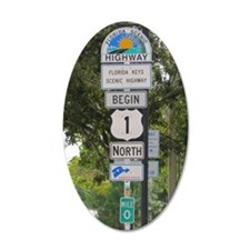 Highway One Key West Wall Decal