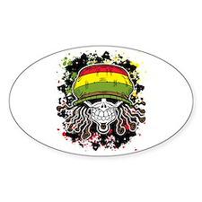 Jamaican Rasta Skull Decal
