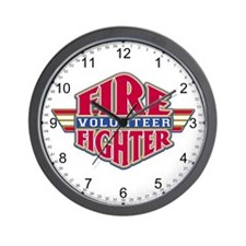 Volunteer Firefighter Wall Clock