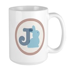 Letter J with cute bunny Mugs
