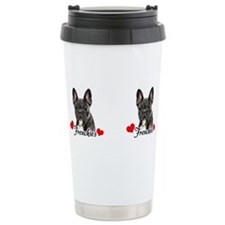 Funny Brindle bulldog Travel Mug
