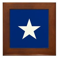 Bonnie Blue Flag Framed Tile