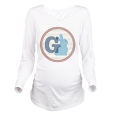 Letter G with cute bunny Long Sleeve Maternity T-S