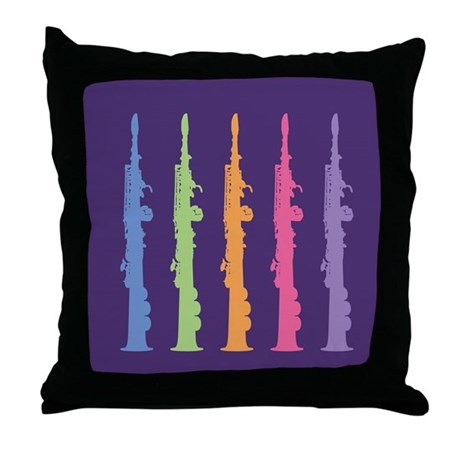 Music Oboe Instrument Throw Pillow